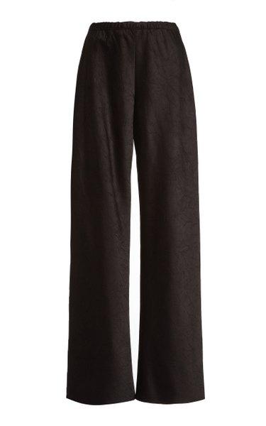 Crushed Satin Wide-Leg Pants