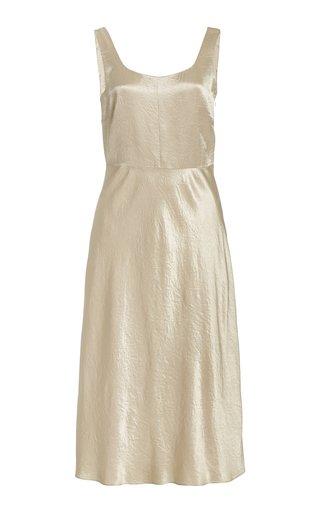 Satin Midi Slip Dress