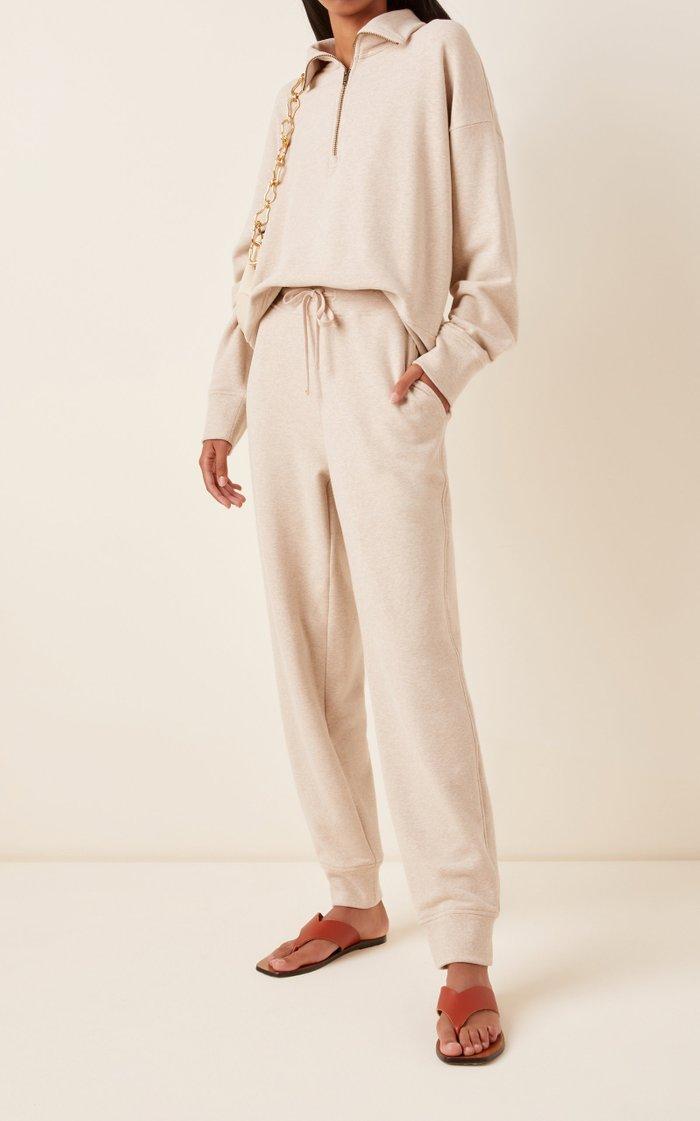 Drawstring Cotton-Knit Sweatpants