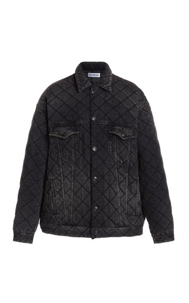 Distressed Quilted Japanese Denim Jacket