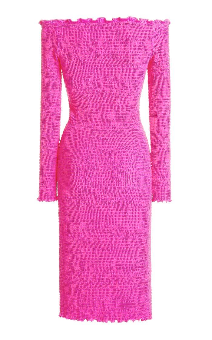 Smocked Jersey Dress