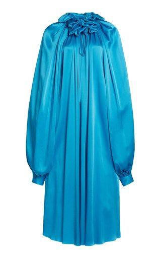 Draped Double-Face Satin Dress