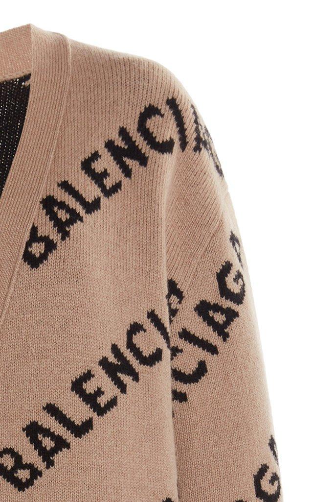 Logo Intarsia Wool-Blend Cardigan