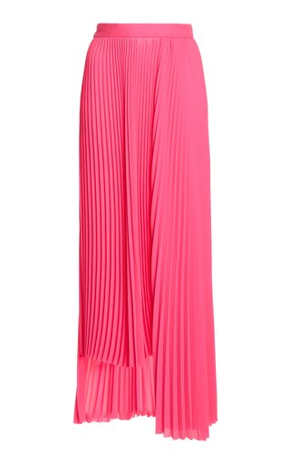 Asymmetric Pleated Georgette Skirt