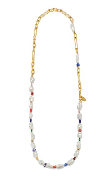 Daydream Pearl Beaded Gold-Plated Necklace