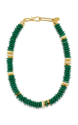 Laguna Beaded Gold-Plated Necklace