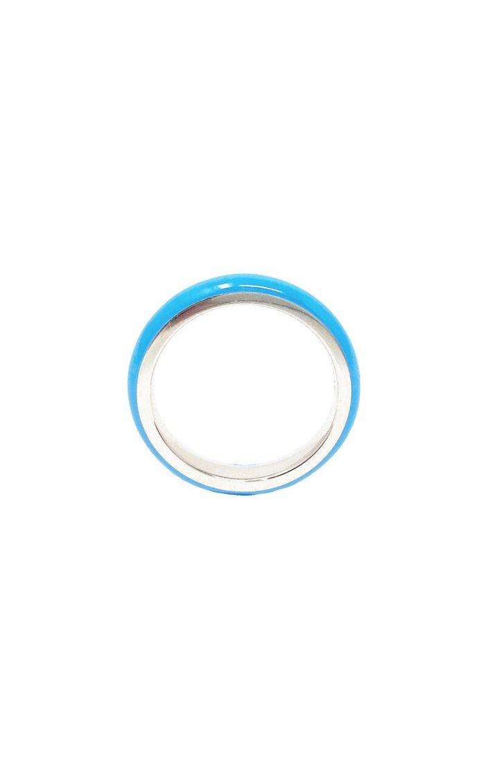 Unicorn Rainbow Enamel Sterling Silver Ring