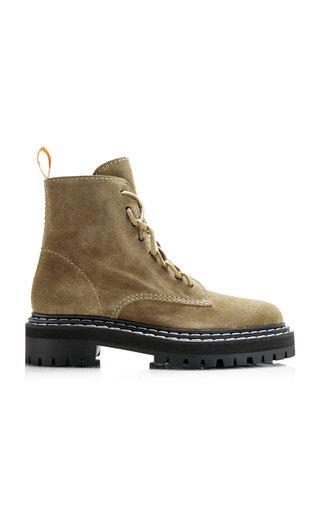 Suede Combat Boots