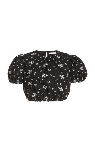 Romi Cropped Embroidered Top