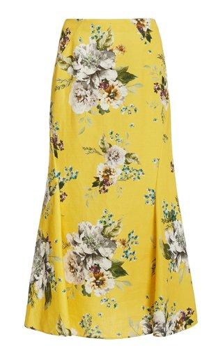 Ivetta Cotton-Linen Midi Skirt