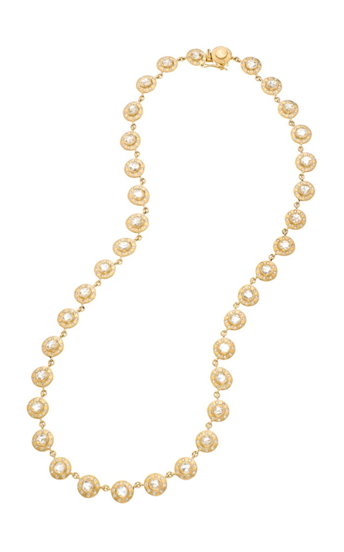 Dunes 18k Yellow-Gold and Diamond Opera Necklace