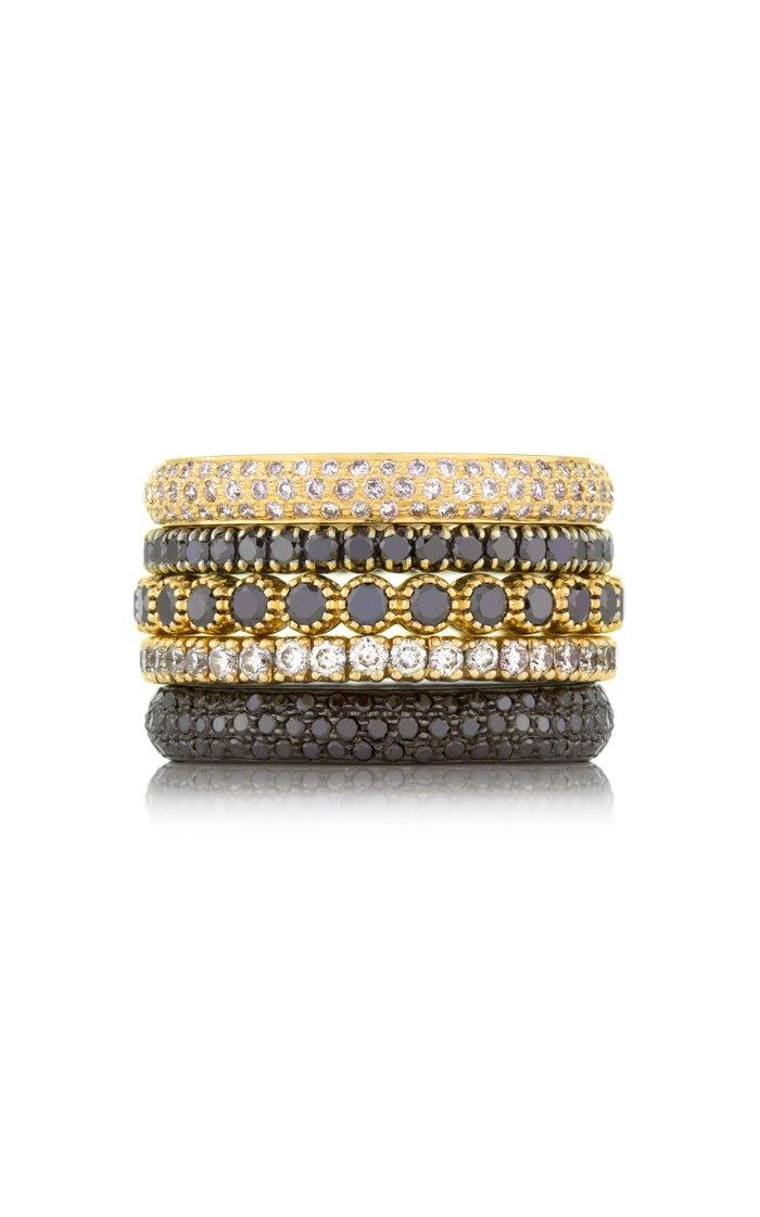 The Bezel 18k Yellow-Gold and Black Diamond Ring