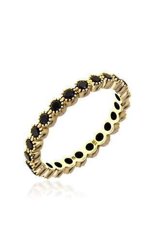 The Bezel 18k Yellow-Gold and Black Diamond Ring