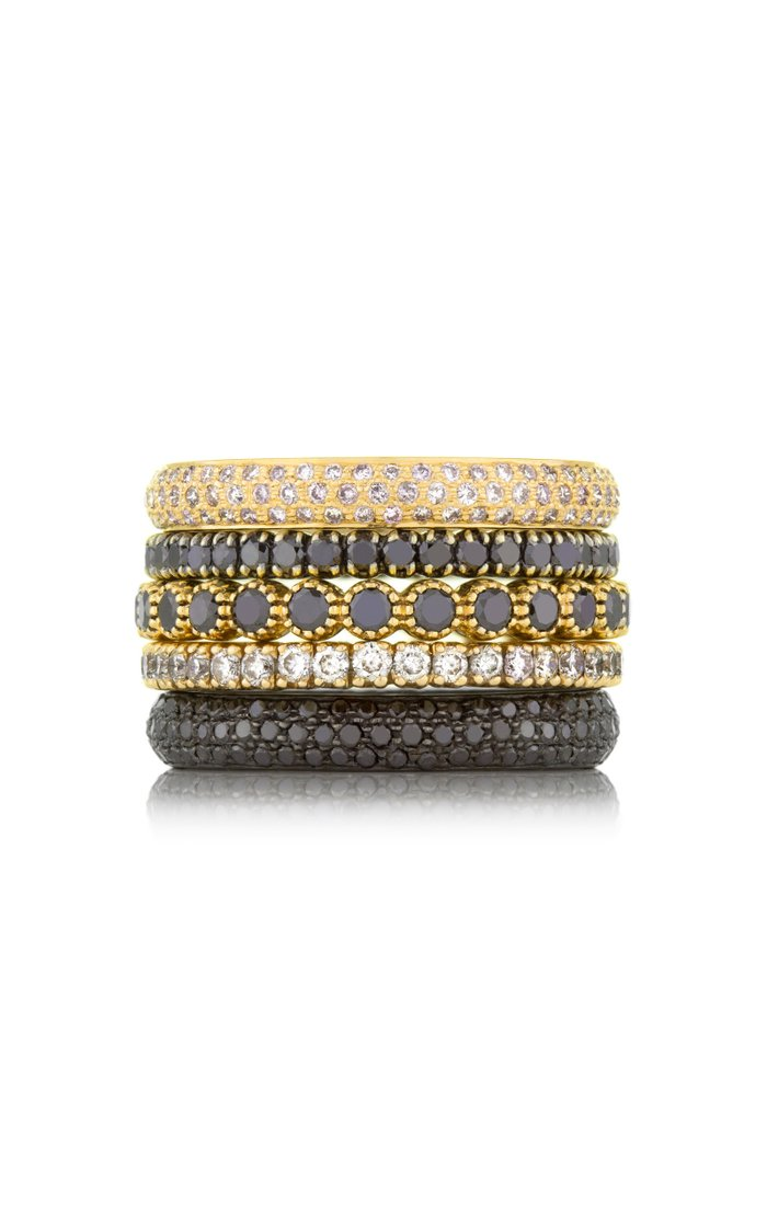 The Prong 18k Yellow-Gold and Diamond Ring