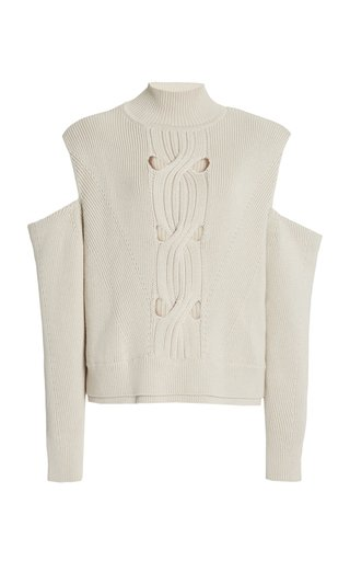 Porter Cutout Cotton-Wool Knit Sweater