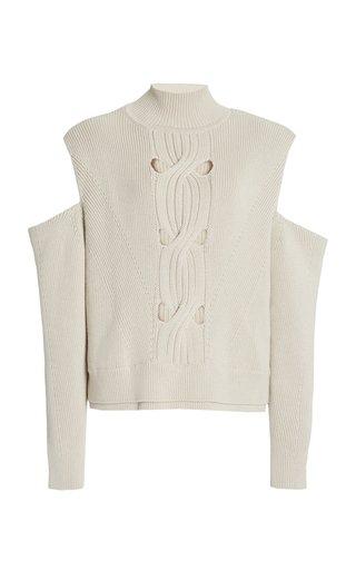 Porter Cutout Cotton-Wool Knit Sweater