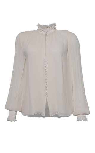 Marlene Ruffled Silk Top