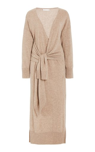 Skyla Wool-Cashmere Midi Wrap Dress