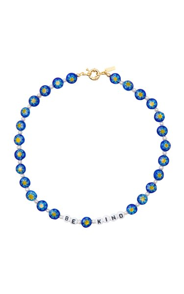 """Be Kind"" Glass Beaded Necklace"