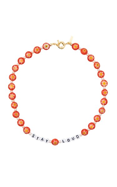 """Stay Loud"" Glass Beaded Necklace"