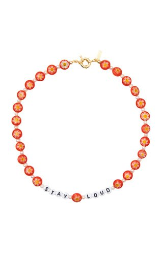 """""""Stay Loud"""" Glass Beaded Necklace"""