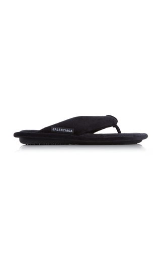 Soft Thong Velvet Sandals