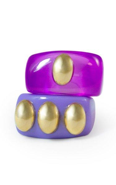 Purple Haze Set Resin Rings