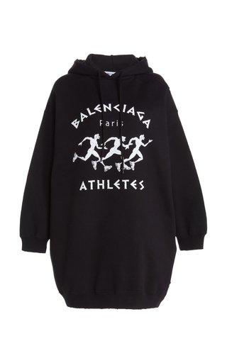 Logo-Printed Jersey Hooded Sweatshirt