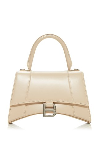 Hourglass S Polished Leather Bag