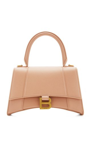 Hourglass S Leather Top Handle Bag