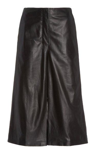 Sam Knee-Length Leather Shorts