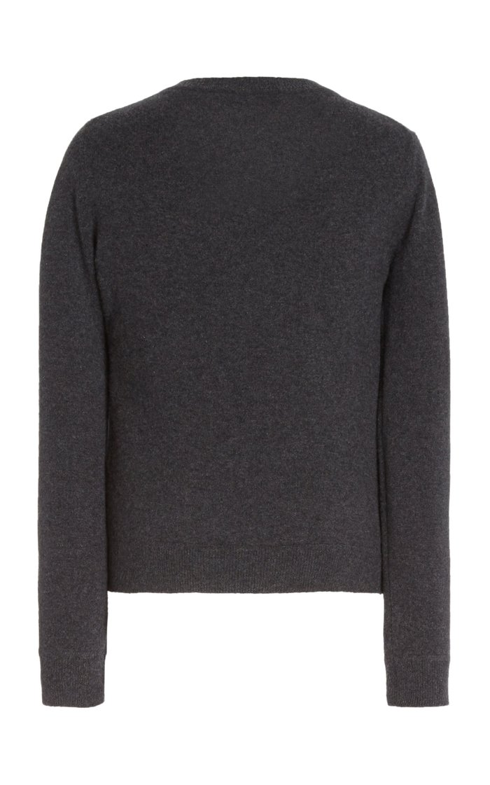 Minamoto Button-Front Cashmere Top