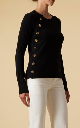 Minamoto Button-Front Cashmere Top
