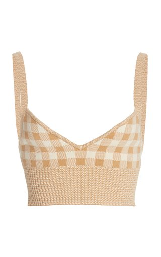 Tyler Gingham Knit Bra Top