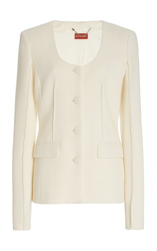 Tamaar Wool Scoop-Neck Blazer