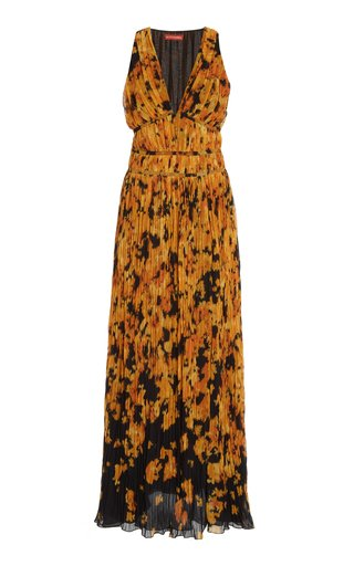 Layla Printed Plissé Maxi Dress