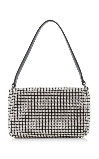 Heiress Medium Rhinestone Mesh Bag