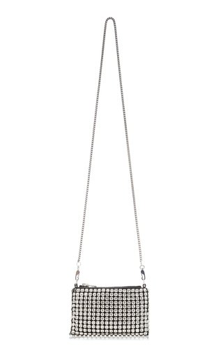 Heiress Rhinstone Mesh Nano Purse