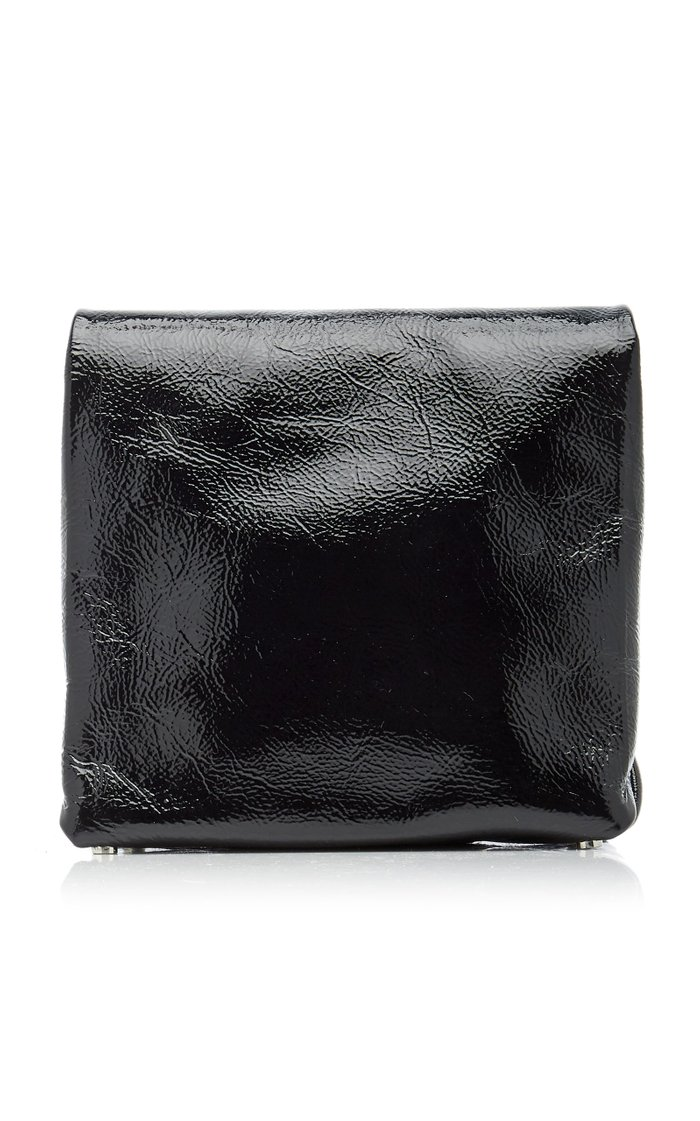 Lunch Bag Patent Leather Clutch