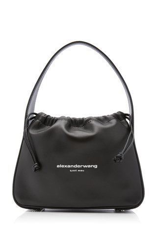Ryan Small Leather Drawstring Bag