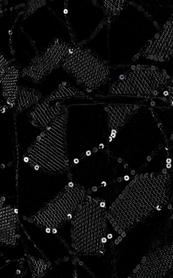 Janis Sequined Velvet-Jacquard Shorts