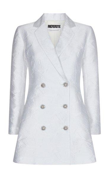 Newton Crystal-Embellished Jacquard Mini Blazer Dress