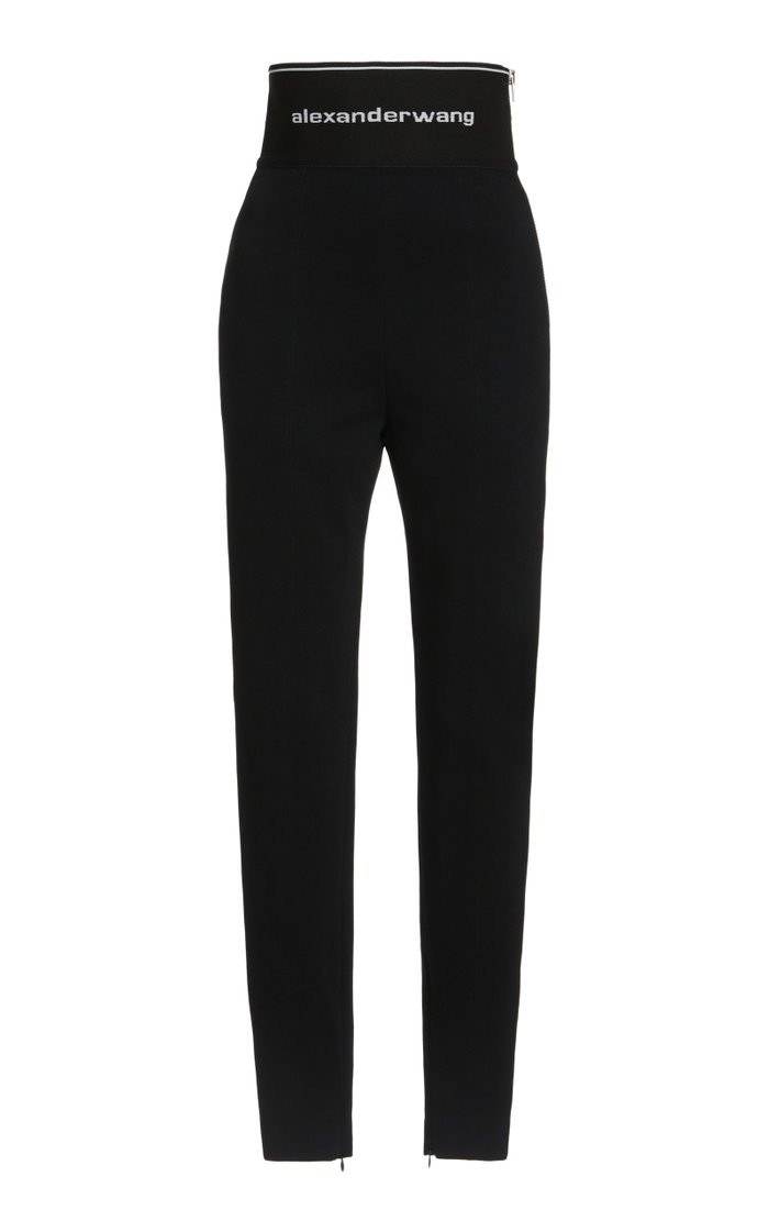 High-Rise Stretch-Jersey Leggings
