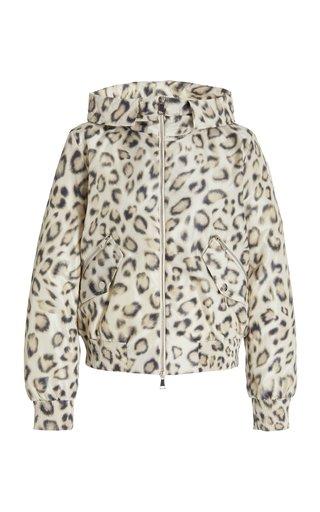 Aldib Leopard-Print Down Puffer Coat
