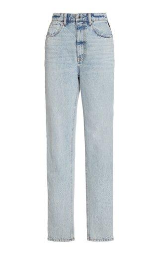 Tuxedo Striped High-Rise Straight-Leg Jeans