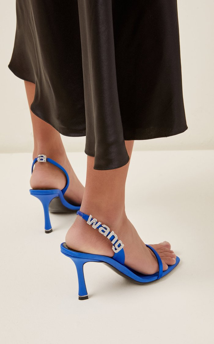 Ivy Logo-Detailed Satin Sandals