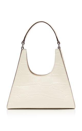 Rey Mini Croc-Effect Leather Shoulder Bag