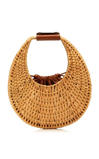 Rattan Moon Shoulder Bag
