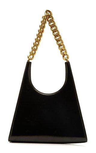 Rey Chain-Trimmed Leather Shoulder Bag