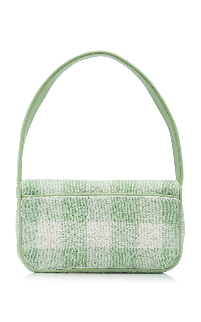 Tommy Beaded Gingham Clutch